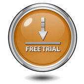 Free trial circular icon on white background — Stock Photo