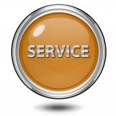 白い背景の上サービス円形アイコン — ストック写真