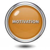 Motivation circular icon on white background — ストック写真