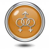 Kulatá ikona sexualitu na bílém pozadí — Stock fotografie
