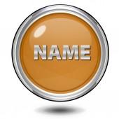 Name circular icon on white background — Stock Photo