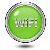 WiFi circulaire pictogram op witte achtergrond — Stockfoto
