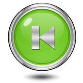 Preview circular icon on white background — Stock Photo