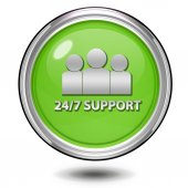 Support circular icon on white background — Stock Photo