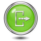 Logout circular icon on white background — Stock Photo
