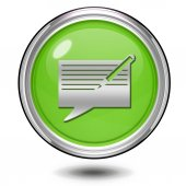 New message circular icon on white background — Stock Photo