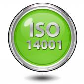 Iso 14001 circular icon on white background — Stock Photo