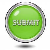 Submit circular icon on white background — Stock Photo