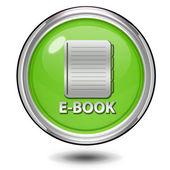 E-book circular icon on white background — Stock Photo