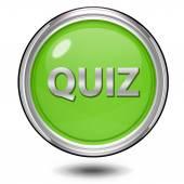 Quiz circular icon on white background — Stock Photo