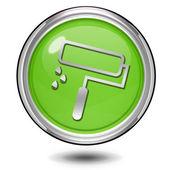 Paint circular icon on white background — Stock Photo
