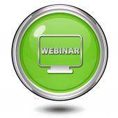 Webinar circular icon on white background — Stock Photo