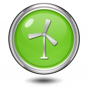 Turbine circular icon on white background — Stockfoto