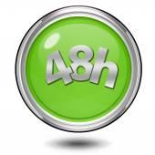 48 hours circular icon on white background — Stock Photo