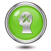 Setting circular icon on white background — Stock Photo