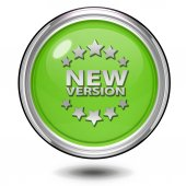 New version circular icon on white background — Foto de Stock