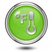 Fahrenheit icona circolare su priorità bassa bianca — Foto Stock
