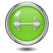 Gym  circular icon on white background — Stock Photo
