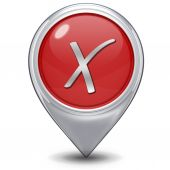 Check pointer icon on white background — 图库照片