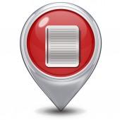 Notatnik wskaźnik ikona na białym tle — Zdjęcie stockowe