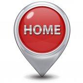 Wskaźnik domu ikona na białym tle — Zdjęcie stockowe