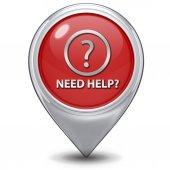 Help pointer icon on white background — Stock Photo