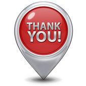 Thank you pointer icon on white background — Stock Photo