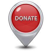 Donate pointer icon on white background — Stok fotoğraf