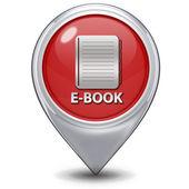 白い背景の上の電子書籍ポインター アイコン — ストック写真