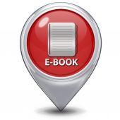 ícono de puntero de e-book sobre fondo blanco — Foto de Stock