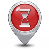 Hourglass pointer icon on white background — Stock Photo