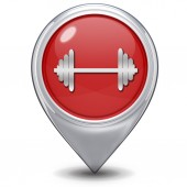 Gym  pointer icon on white background — Stockfoto