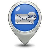 Sms wskaźnik ikona na białym tle — Zdjęcie stockowe
