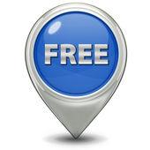 Free pointer icon on white background — Stock Photo