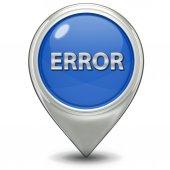 Ícone de erro do ponteiro — Fotografia Stock
