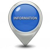 Information pointer icon — Stock Photo