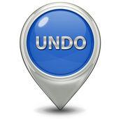 Undo pointer icon — Stock Photo