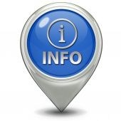 Information pointer icon — Stock Photo