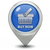 Buy now pointer icon — Stock Photo