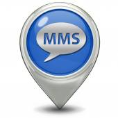 Mms pointer icon — Stock Photo