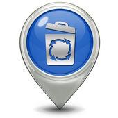 Recycle pointer icon — Stock Photo