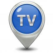 TV pointer icon on white background — Stock Photo