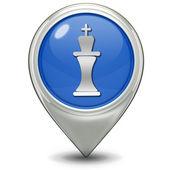 Chess pointer icon on white background — Stock Photo