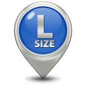 L size pointer icon on white background — Stock Photo
