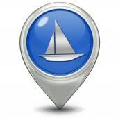 Boat pointer icon on white background — Zdjęcie stockowe