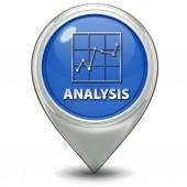 Data analysis pointer icon on white background — Stock Photo