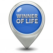 Winner of life pointer icon on white background — Stockfoto