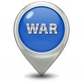 War pointer icon on white background — Stok fotoğraf