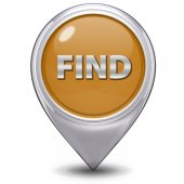 Find pointer icon on white background — Stock Photo