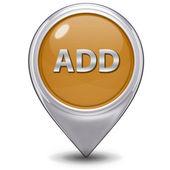 Add pointer icon on white background — Stock Photo